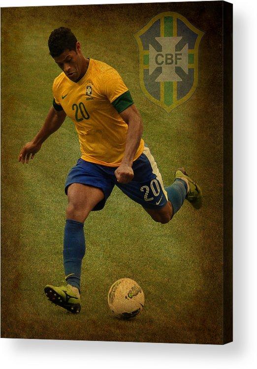 Givanildo Vieira De Souza Acrylic Print featuring the photograph Hulk Kicks Givanildo Vieira De Souza by Lee Dos Santos