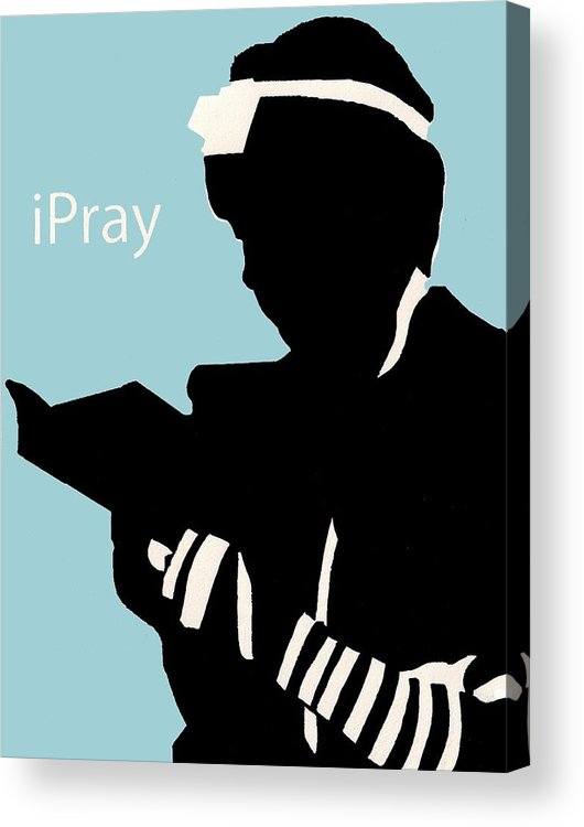 Apple Acrylic Print featuring the digital art Ipray by Anshie Kagan