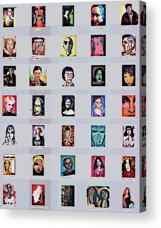 Faces Acrylic Print featuring the digital art It's All About Faces by Noredin Morgan