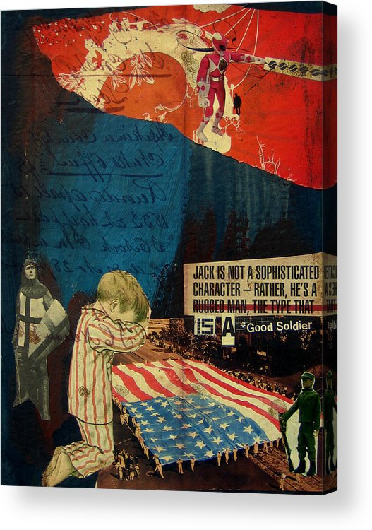 War Acrylic Print featuring the mixed media Jack by Adam Kissel