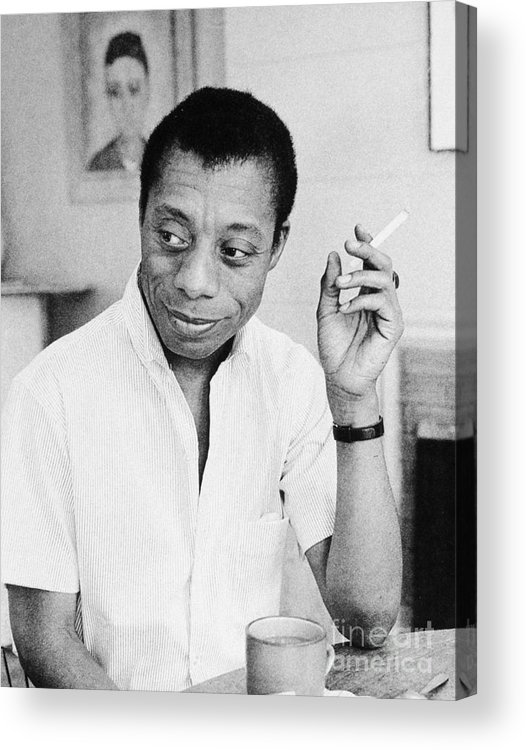 1950s Acrylic Print featuring the photograph James Baldwin by Granger