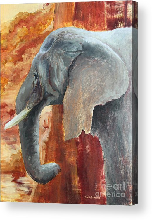 Animal Acrylic Print featuring the painting Jana by Todd Blanchard