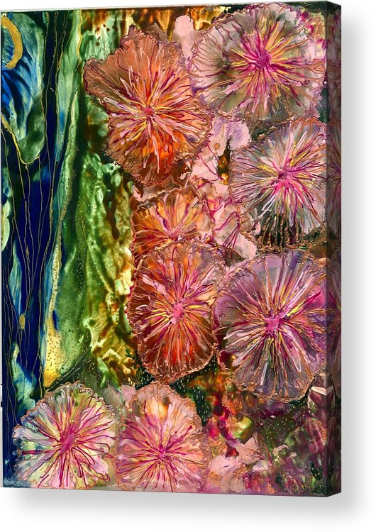 Flowers Acrylic Print featuring the painting Karen by Heather Hennick