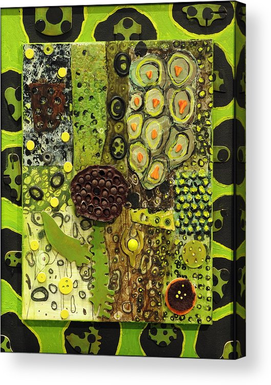 Plants Acrylic Print featuring the painting Kinetic Seeds I by Angela Dickerson