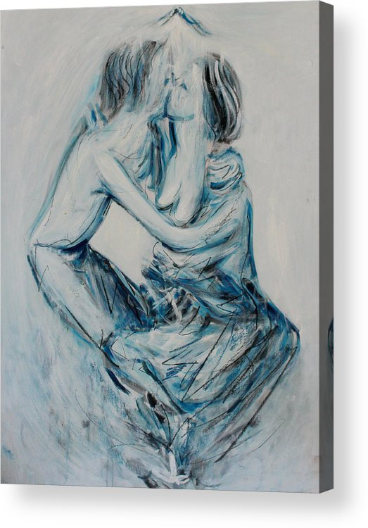 Kiss Acrylic Print featuring the painting Kiss by Alexander Carletti
