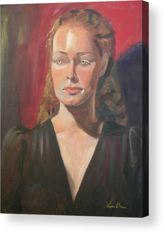 Portrait Acrylic Print featuring the painting Lady Ann by Lilibeth Andre