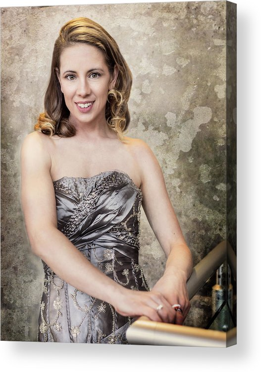 Portrait Acrylic Print featuring the photograph Lady In Silver by Jacki Marino