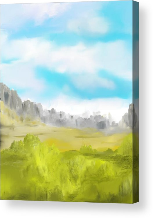 Landscape Acrylic Print featuring the digital art Landscape 040710 by David Lane