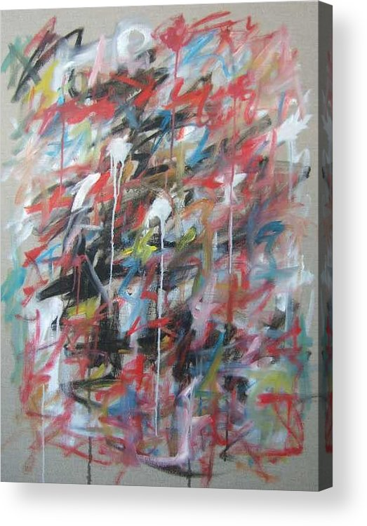 Abstract Acrylic Print featuring the painting Large Abstract No 4 by Michael Henderson