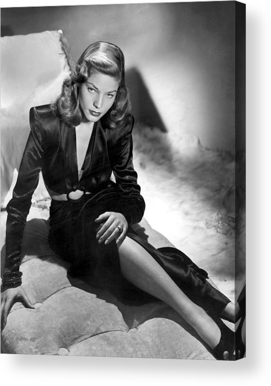 Lauren Bacall Acrylic Print featuring the photograph Lauren Bacall by Unknown
