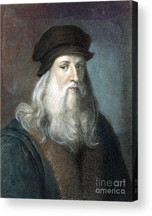 15th Century Acrylic Print featuring the photograph Leonardo Da Vinci - To License For Professional Use Visit Granger.com by Granger