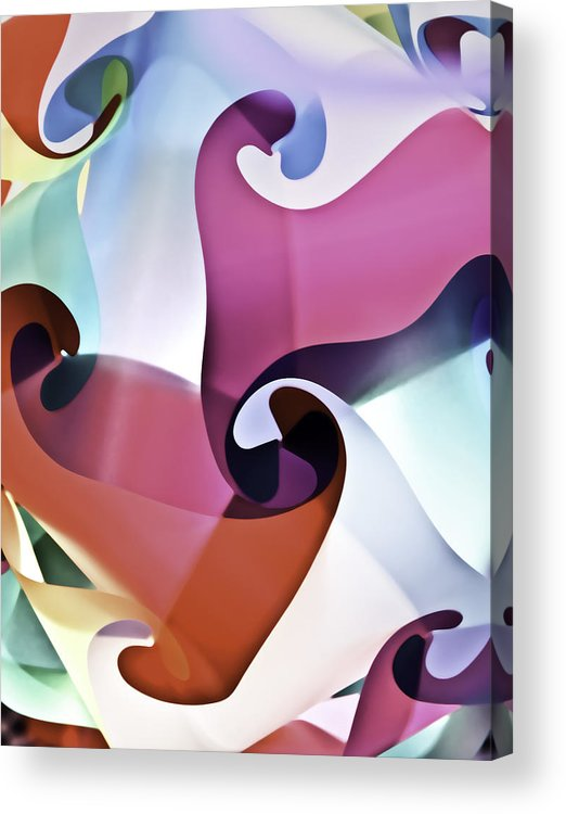 Abstract Acrylic Print featuring the photograph Lets Dance by Mark Coran