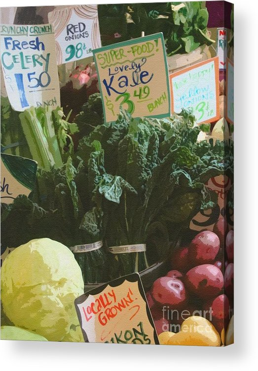 Kale Acrylic Print featuring the photograph Lovely Kale by Lydia L Kramer
