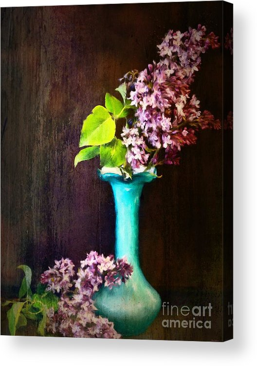 Lilac Acrylic Print featuring the painting Lovely Lilacs by Tina LeCour