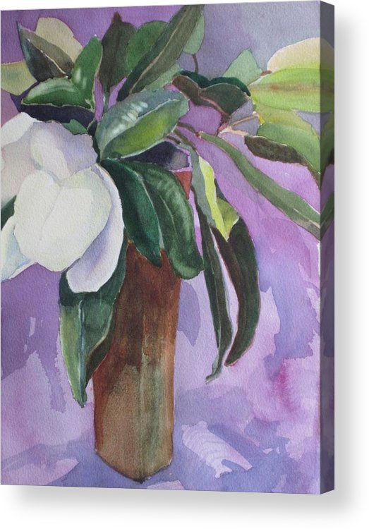Magnolia Acrylic Print featuring the painting Magnolia by Elizabeth Carr