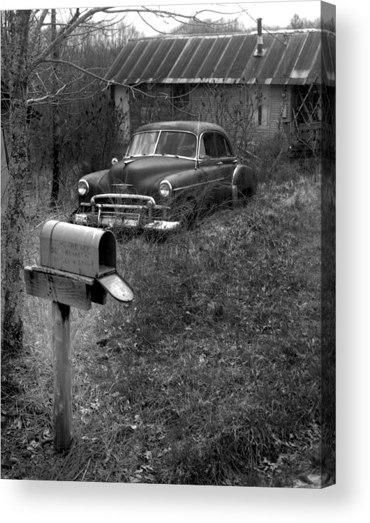 Ansel Adams Acrylic Print featuring the photograph Mailboxcar by Curtis J Neeley Jr