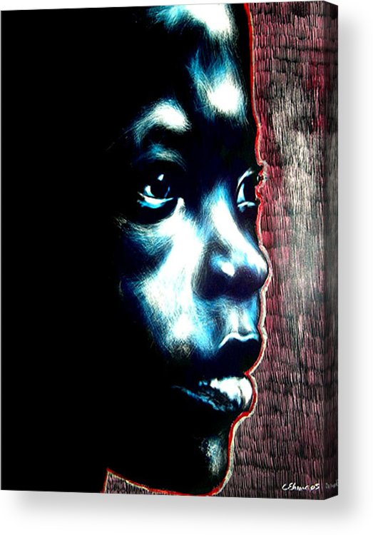 Acrylic Print featuring the mixed media Master Blue by Chester Elmore
