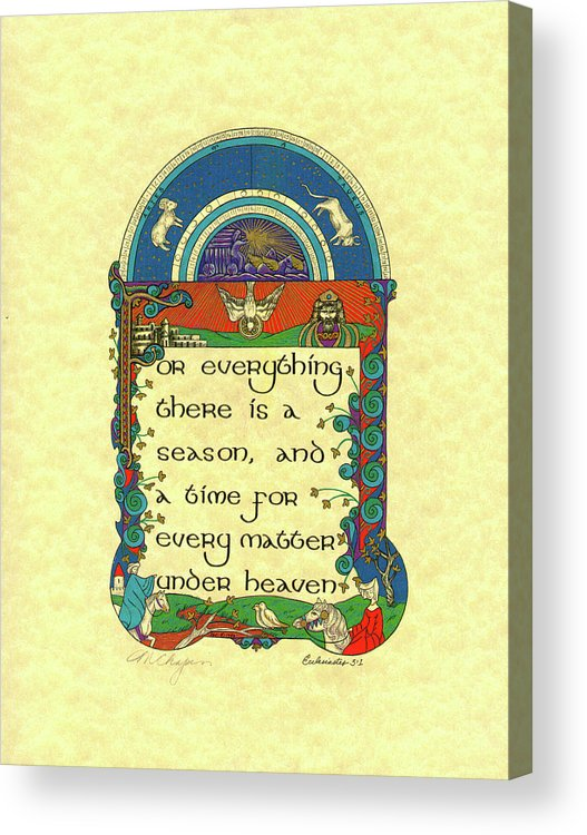 Acrylic Print featuring the painting Medieval May Courting by Marlene Chapin