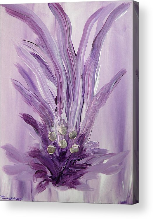 Abstract Acrylic Print featuring the mixed media Merl An Ah by Emerald GreenForest