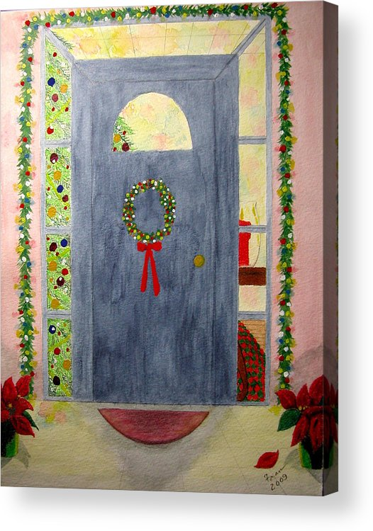 Acrylic Print featuring the painting Merry Christmas by Fran Hoffpauir