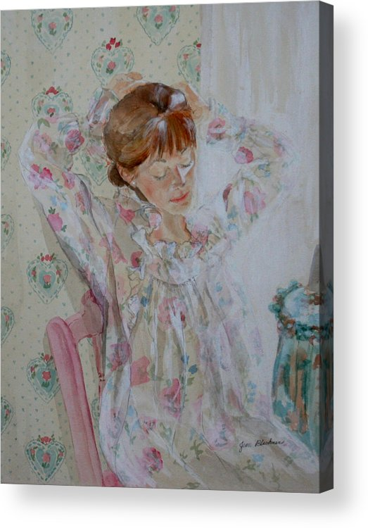 Morning Acrylic Print featuring the painting Morning Ritual by Jean Blackmer