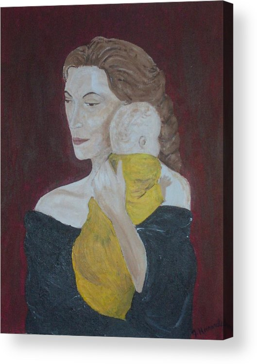 Mother Acrylic Print featuring the painting Mother And Child by Jennifer Hernandez
