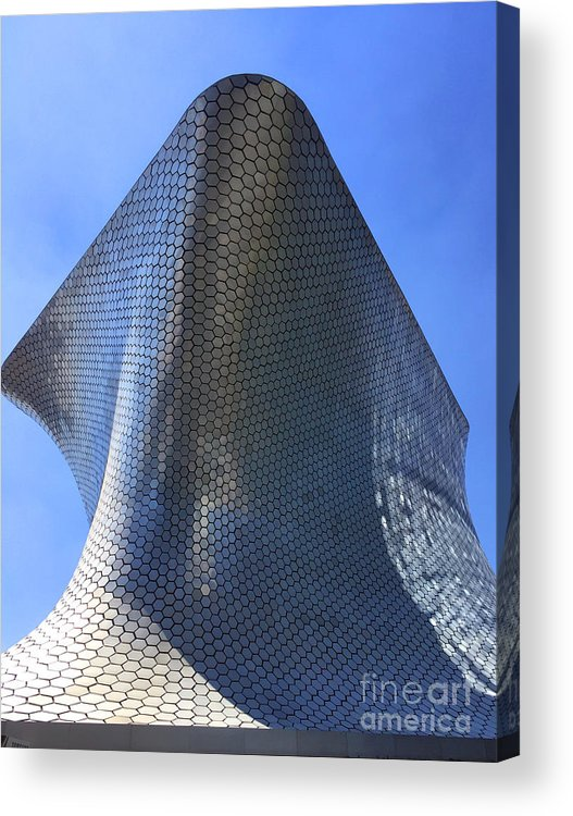 Museo Soumaya Acrylic Print featuring the photograph Museo Soumaya by Andrew Dinh