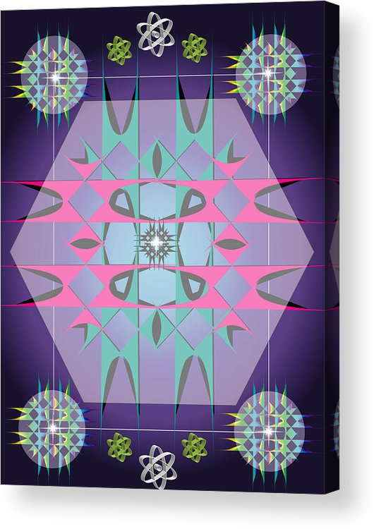 Fantasy Acrylic Print featuring the digital art Nuclear1 by George Pasini