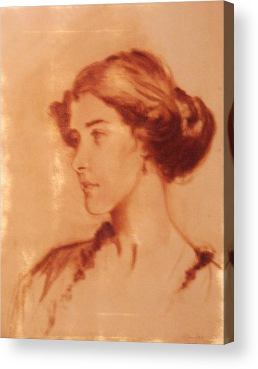 Sketch Acrylic Print featuring the painting Oil Sketch by David Olander