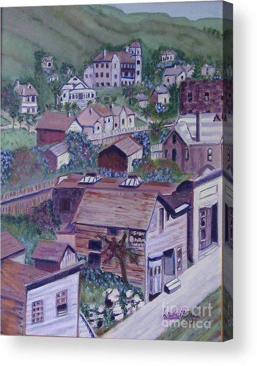 Ventura Acrylic Print featuring the painting Old Ventura by Laurie Morgan