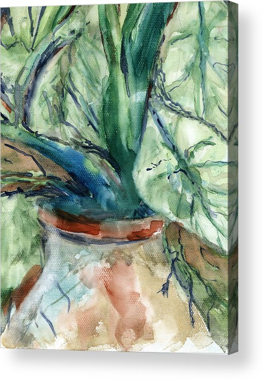 Plant Acrylic Print featuring the painting Organic by Marilyn Barton