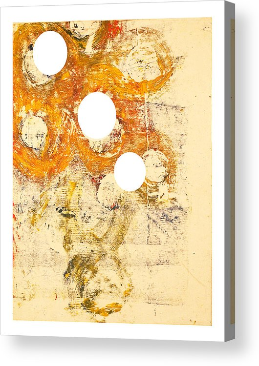 Abstract Acrylic Print featuring the painting Philip Von Magnet In Fez by Howard Goldberg