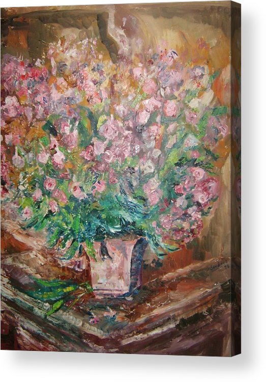 Still Life Flowers Acrylic Print featuring the painting Phlox by Joseph Sandora Jr