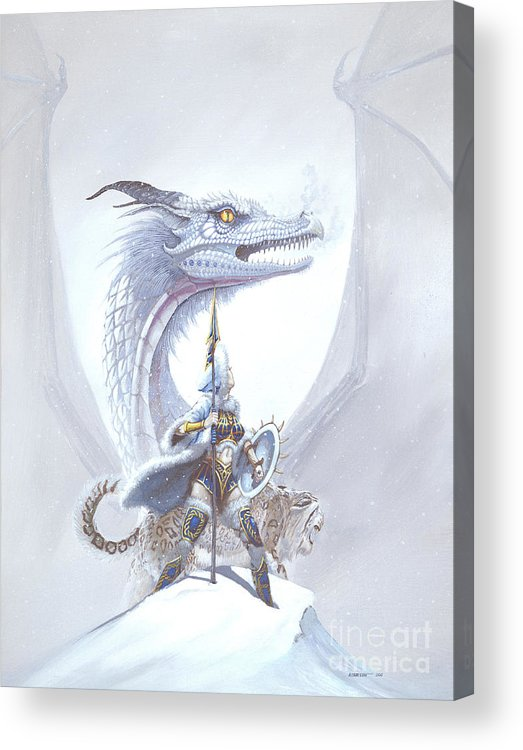 Dragon Acrylic Print featuring the painting Polar Princess by Stanley Morrison