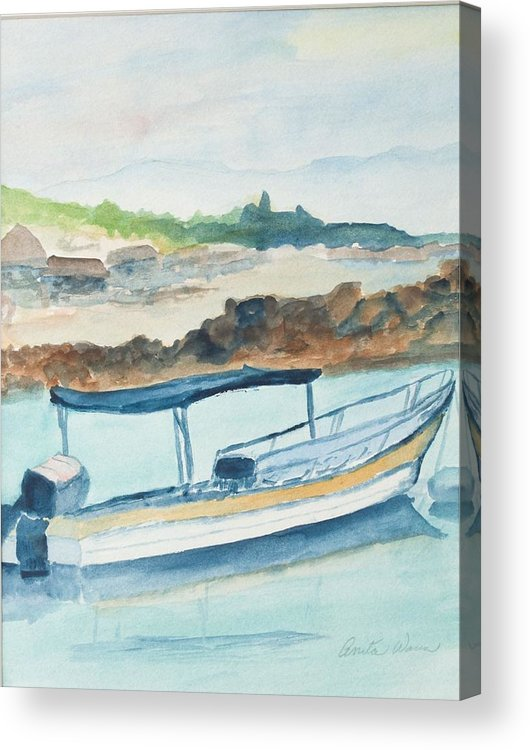 Landscpe Marine Acrylic Print featuring the painting Ponga by Anita Wann