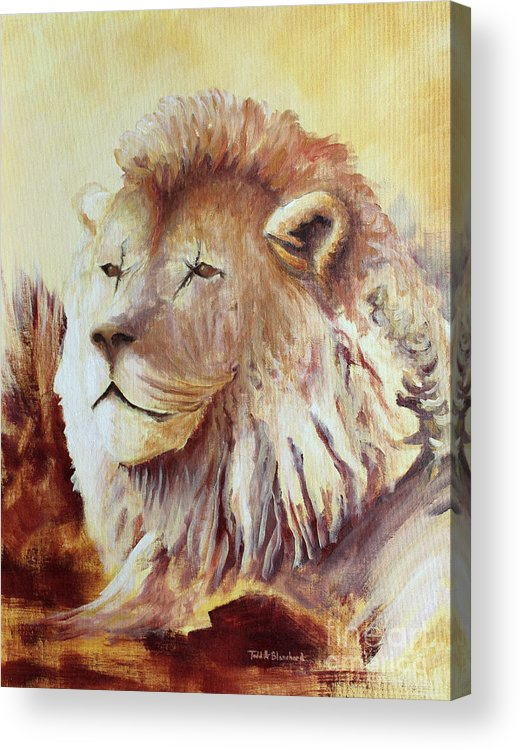 Animal Acrylic Print featuring the painting Proud by Todd Blanchard