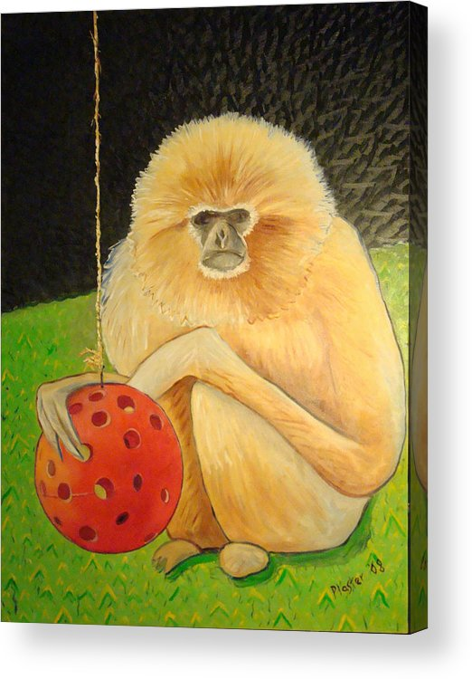 Animals Acrylic Print featuring the painting Psychic Monkey by Scott Plaster