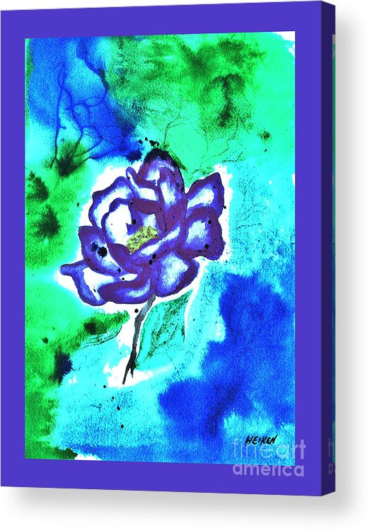 Painted Acrylic Print featuring the painting Purple Rose by Marsha Heiken