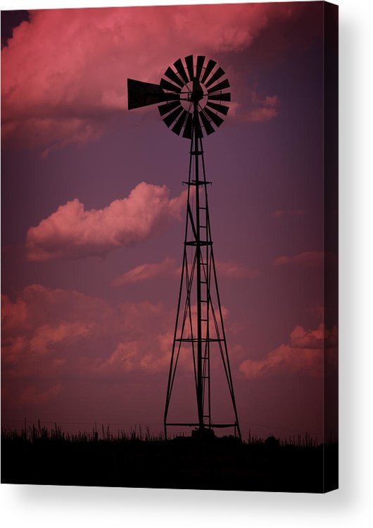 Wind Acrylic Print featuring the photograph Purple Wind by Ricky Barnard