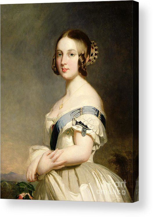 Queen Acrylic Print featuring the painting Queen Victoria by Franz Xavier Winterhalter