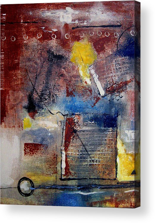 Abstract Acrylic Print featuring the painting Raw Emotions II by Ruth Palmer