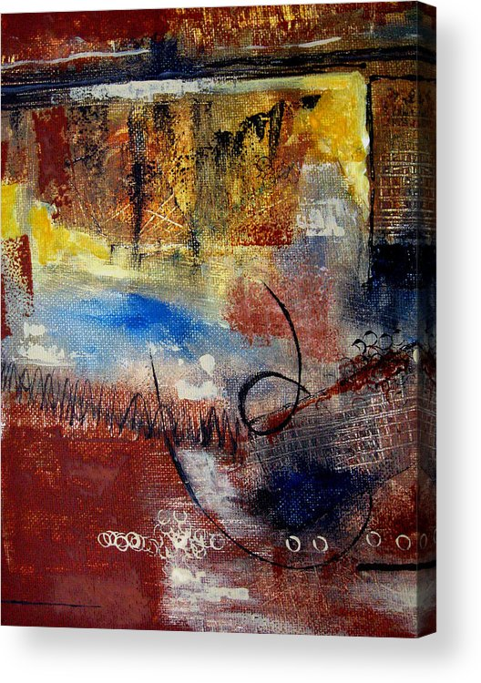 Abstract Acrylic Print featuring the painting Raw Emotions by Ruth Palmer