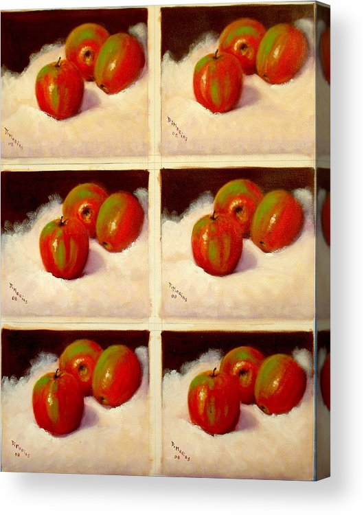 Realism Acrylic Print featuring the painting Redundant Apples by Donelli DiMaria