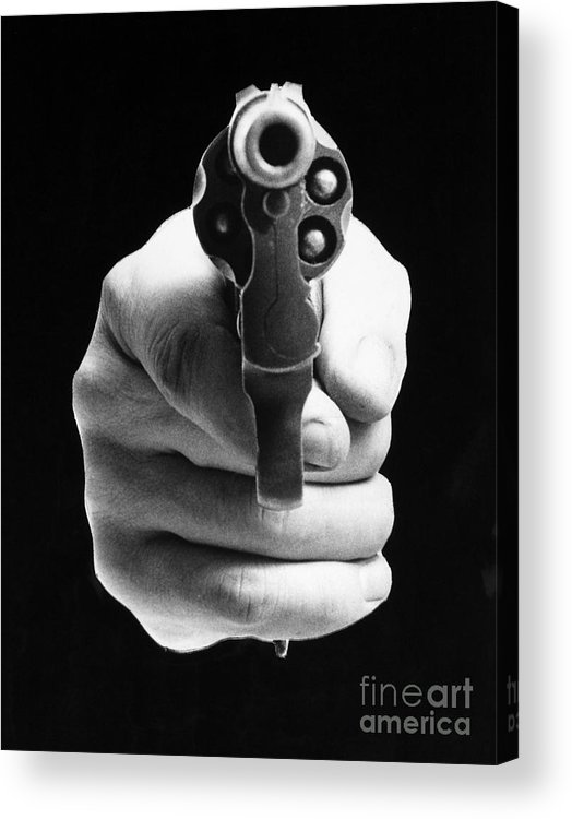 20th Century Acrylic Print featuring the photograph Revolver Aimed At You by Granger