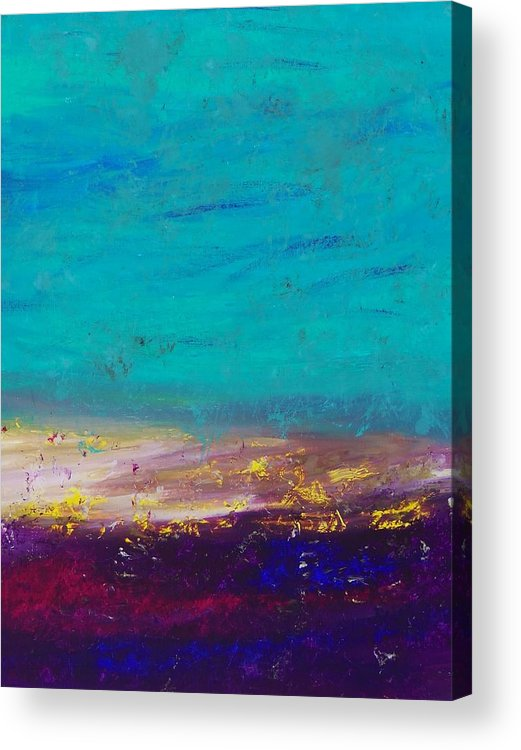 Acrylic Acrylic Print featuring the painting Seaside Sunrise Abstract by Shawn Ballard