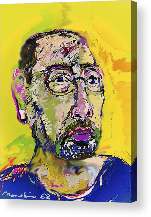 Self Portrait Acrylic Print featuring the painting Sp42508 by Noredin Morgan