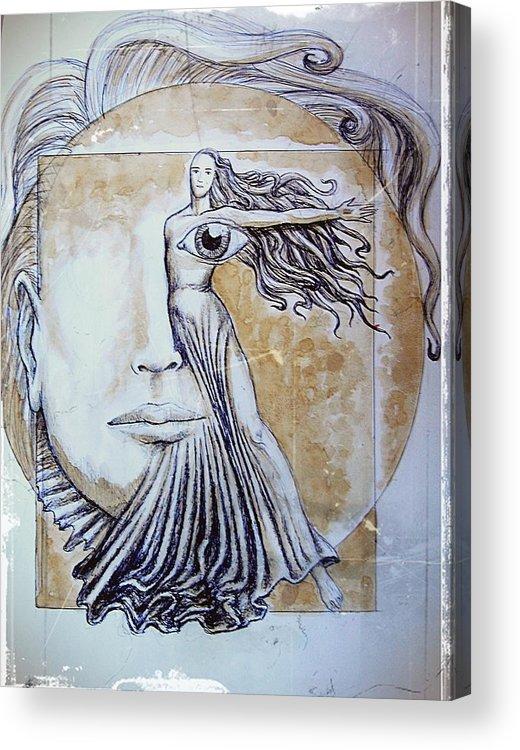 Symmetry Acrylic Print featuring the mixed media Symmetry by Paulo Zerbato