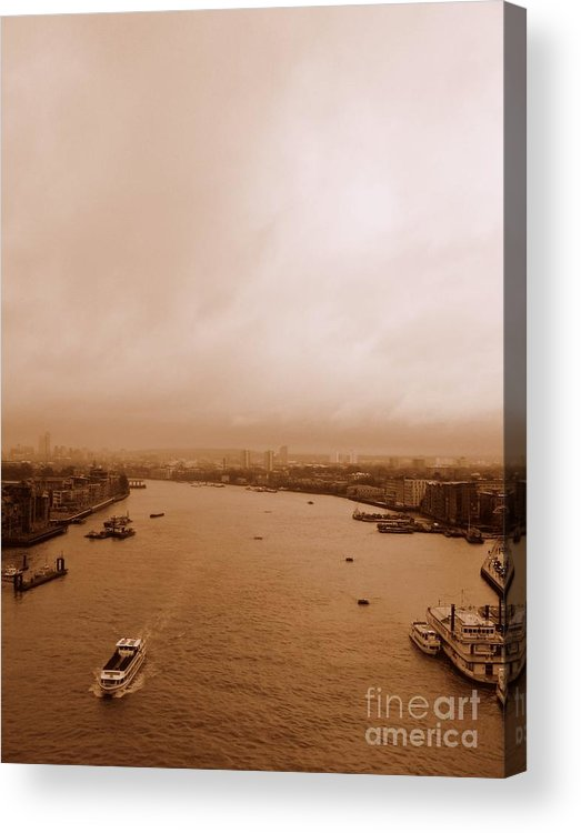 Thames Acrylic Print featuring the photograph Thames by Anita Kovacevic