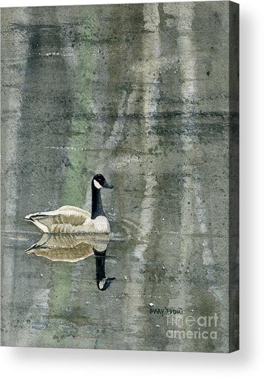 Canada Acrylic Print featuring the painting The Canadian Goose by Mary Tuomi