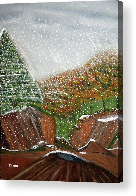 Snow Acrylic Print featuring the painting The First Snow by Edwin Long